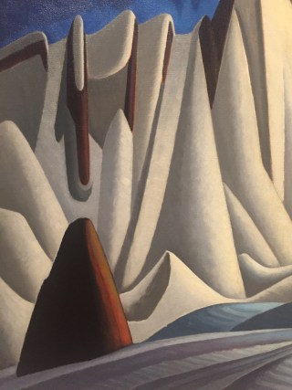 """Lawren Harris, detail of """"Mountains in Snow: Rocky Mountain Painting VII"""" (c. 1929), oil on canvas, 51 11/16 x 58 1/16 in (131.3 x 147.7 cm), The Thompson Collection at Art Gallery of Ontario (click to enlarge)"""