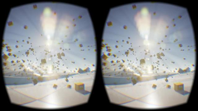 Sample screen of stereoscopic image on Oculus Rift (image via Wikipedia)