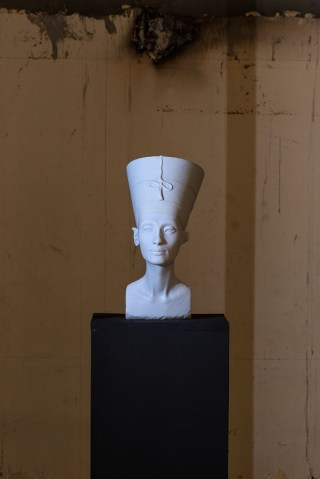 """The Other Nefertiti,"" a 3D-printed bust installed at the American University in Cairo (click to enlarge)"
