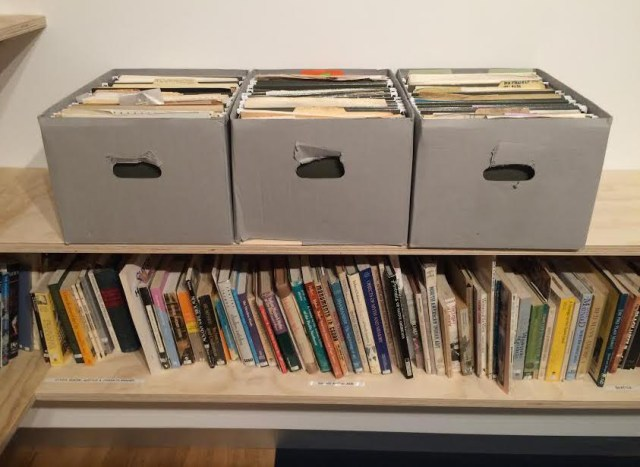 The reading room for Martha Rosler's 'Housing Is a Human Right' at the New Foundation Seattle