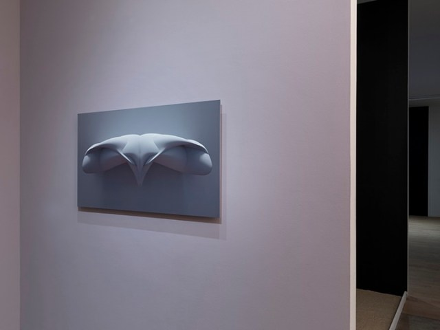 "Sara Ludy, installation view, ""Alien (Wall Mount)"" in 'Subsurface Hell' at Bitforms Gallery"