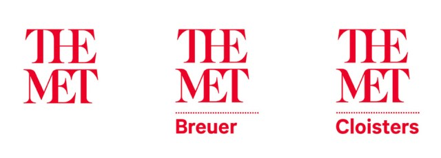 The new sub-branding system to differentiate THE MET locations (image via Wired)