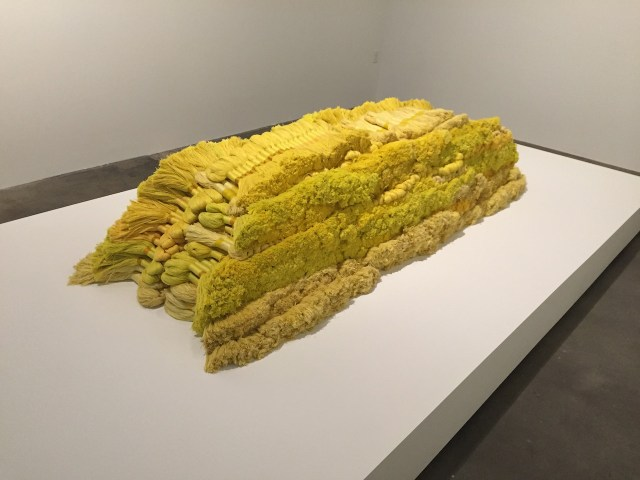 """Sheila Hicks, """"Banisteriopsis"""" (1965-66), linen, wool, dimensions variable"""