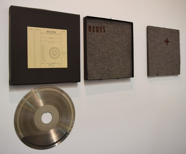"""Joseph Beuys, """"Sonnenscheibe"""" (1973) in the Montrasio Arte booth at the 2016 Armory Show"""