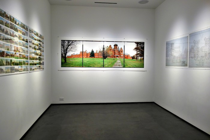 Installation view of 'Asylum' at Benrubi Gallery (photo by the author for Hyperallergic)
