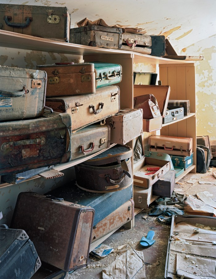 """Christopher Payne, """"Patient Suitcases in Ward Attic, Bolivar State Hospital, Bolivar, Tennessee"""" (2007) (© Christopher Payne/Courtesy of Benrubi Gallery, NYC)"""