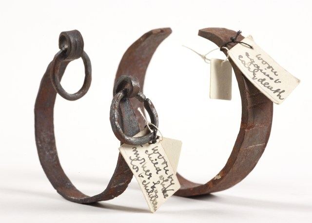 """Bracelets for """"shackling"""" a child to life and warding off death (unknown maker, place, and date (Gaster Collection) (courtesy Chetham's Library)"""