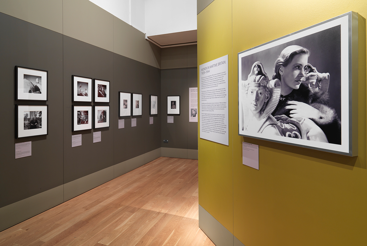 Installation view, 'Lee Miller: A Woman's War' at the London Imperial War Museum (image courtesy London Imperial War Museum) (click to enlarge)
