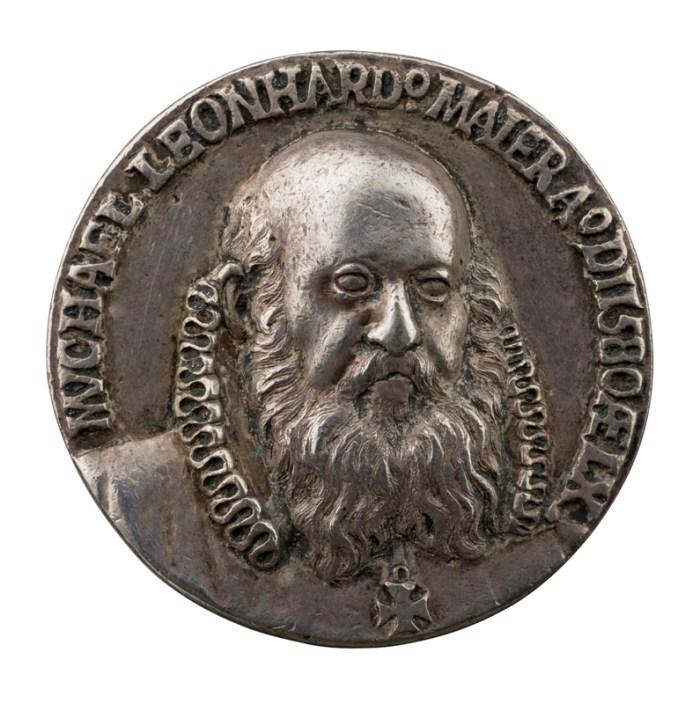 "Baldwin Drentwett, ""Michael Leonhard Maier"" (1580), silver, 41.6 mm (photo by Michael Bodycomb, courtesy Stephen K. and Janie Woo Scher Collection)"