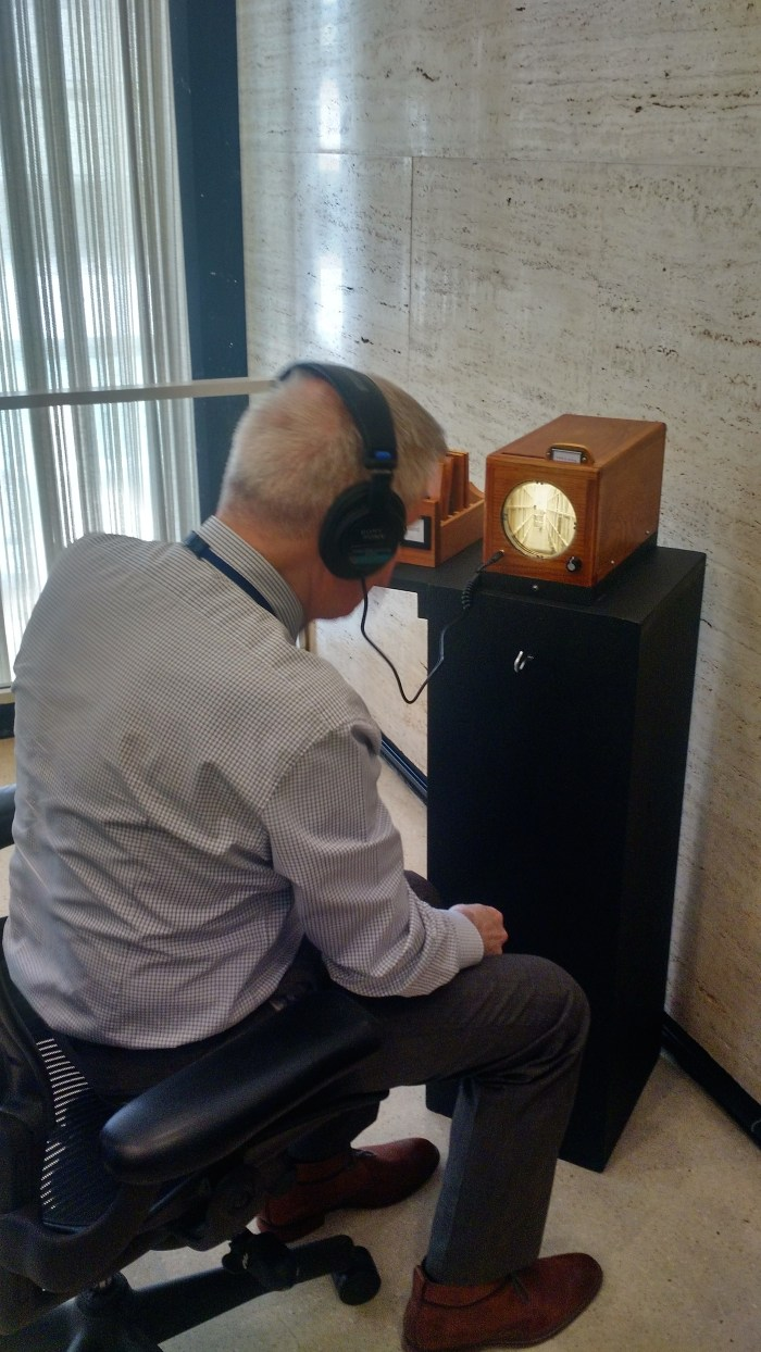 Using the slide box in 'Archives of Sound' (courtesy NYPL)