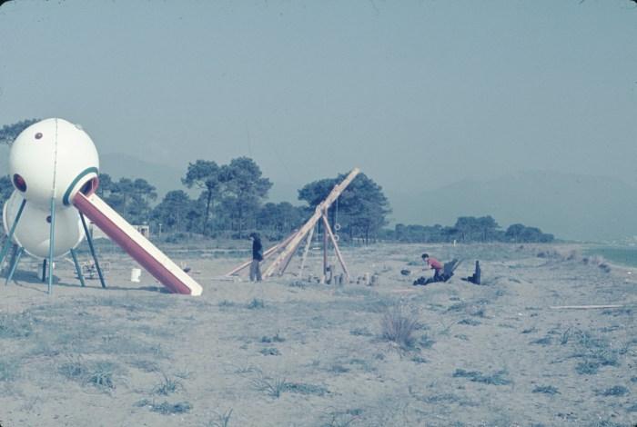 Group Ludic, Playground for family holiday resort, Biguglia (V.V.F), Korsika / Corsica (1972) (courtesy of Xavier de la Salle)