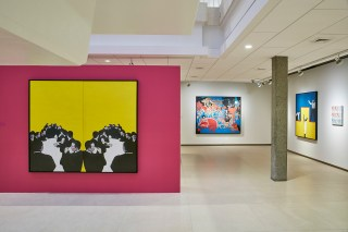 Installation view, 'Rosalyn Drexler: Who Does She Think She Is?' at Rose Art Musuem, Brandeis University (photo by Charles Mayer) (click to enlarge)