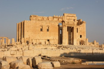 The Temple of Bel in 2009, before its partial destruction by ISIS. (image via flickr.com/azwegers)