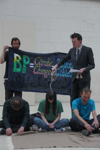 BP or not BP? protest the British Museum's BP-sponsored exhibition 'Sunken Cities' (photo by LPLX) (click to enlarge)