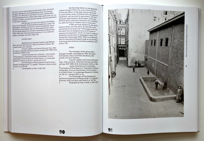 Pages from 'The Playground Project' (photo of the book for Hyperallergic)