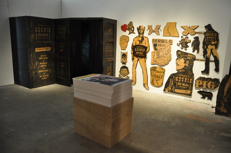 """An installation view of the New York version of """"Remembering the Upstairs Lounge"""" (2008)"""