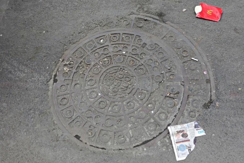 A Con Edison manhole cover