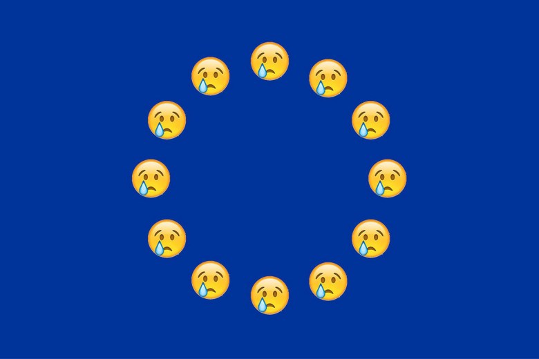 This new EU flag is reimagined by Felix Burrichter (via his Facebook profile page)