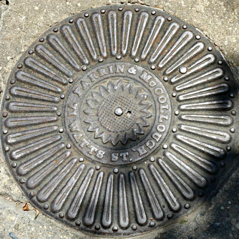 Coal chute cover by the Farrin & McCullough foundry on St. Luke's Place in the West Village