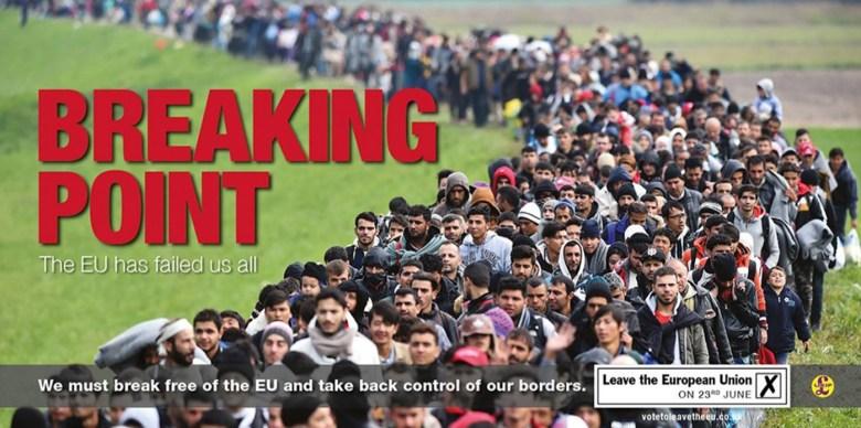 "UKIP's ""Breaking Point"" Billboard (image via ukip.org, since removed)"