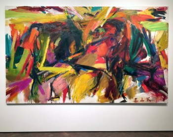 """Elaine de Kooning's """"Bullfight"""" (1959), which was acquired by the Denver Museum of Art."""