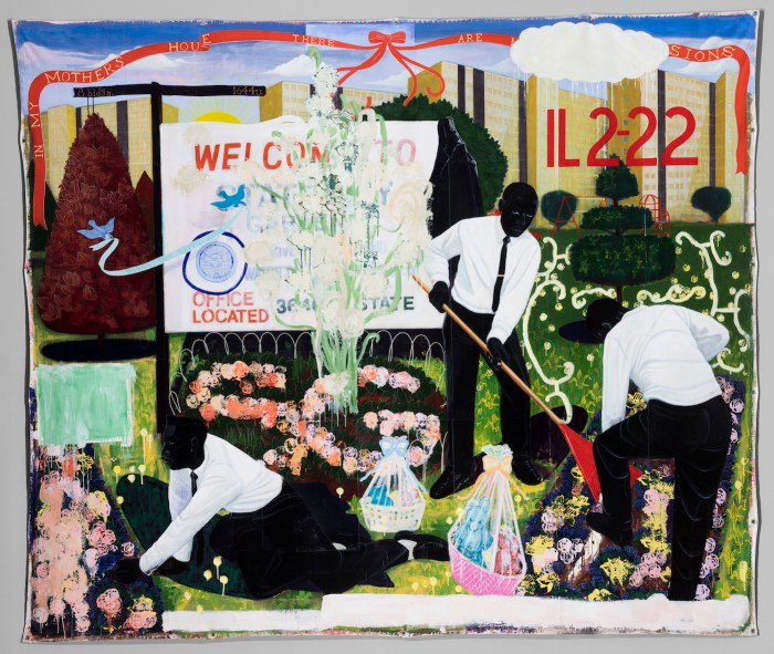"""Kerry James Marshall, """"Many Mansions"""" (1994), the Art Institute of Chicago, Max V. Kohnstamm Fund (photo © The Art Institute of Chicago)"""