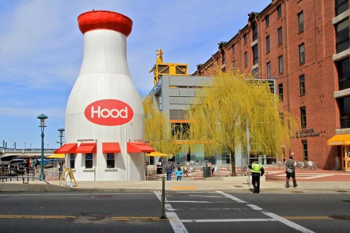 Hood Milk Bottle in Boston, Massachusetts (photo by openroads/Flickr)