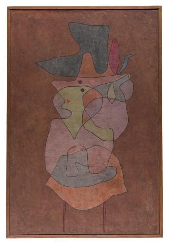 "Paul Klee, ""Dame Démon"" (1935), oil and watercolor on prepared hessian canvas on card (Zentrum Paul Klee, Berne)"