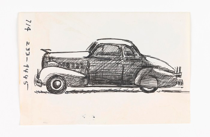 José Montoya, Untitled, date unknown, ink on paper (courtesy of the Montoya Family Trust)