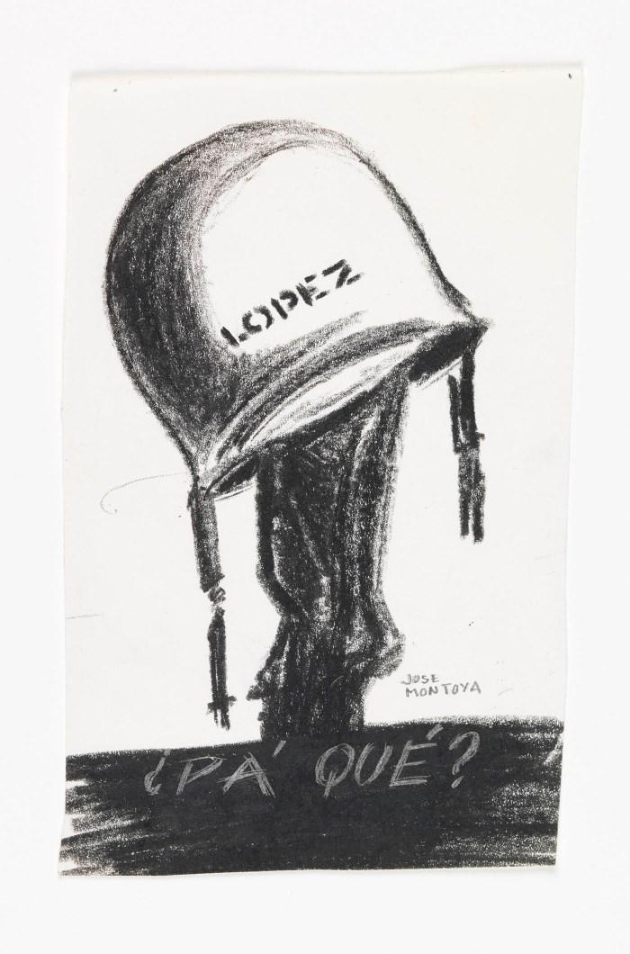 José Montoya, Untitled, date unknown, pastel on paper (courtesy of the Montoya Family Trust)
