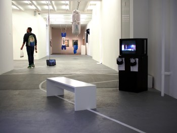 Installation view, 'Contesting/Contexting SPORT' at NGBK (click to enlarge)
