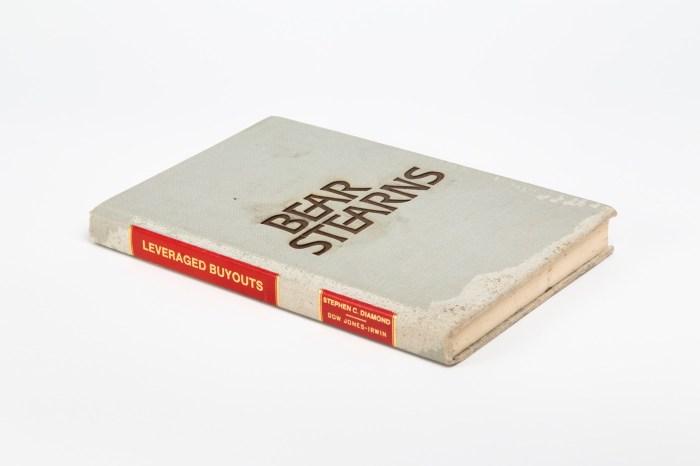 "Michael Mandiberg, ""FDIC Insured (Bear Sterns, New York NY, March 16, 2008), Lasercut Found Book, 2009-2010. Courtesy Michael Mandiberg/Denny Gallery, NYC"
