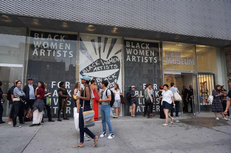 Black Women Artists for Black Lives Matter at the New Museum (photo by the author for Hyperallergic)