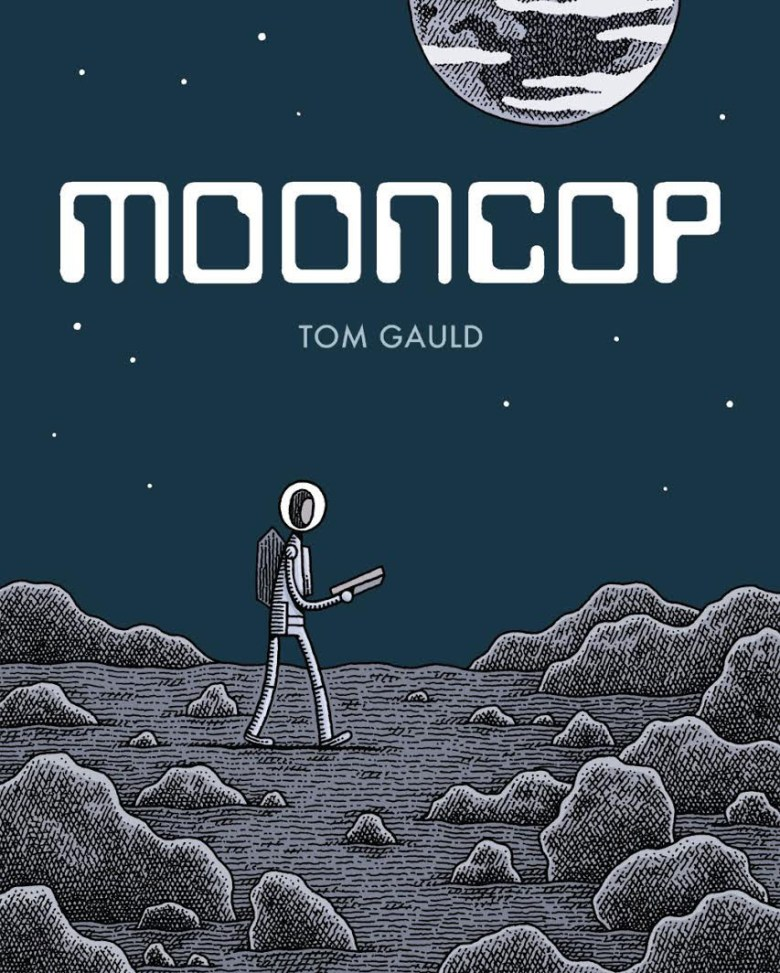 Cover of Tom Gauld's 'Mooncop' (all images courtesy Drawn & Quarterly)