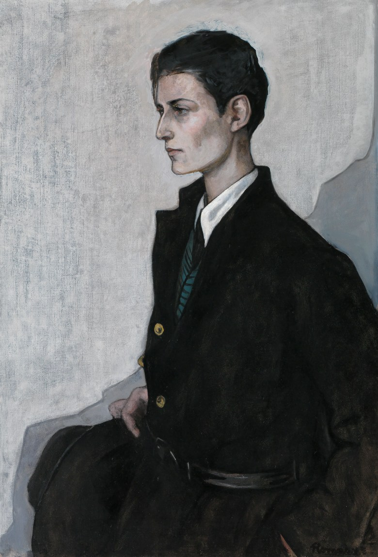 """Romaine Brooks, """"Peter (A Young English Girl)"""" (1923–24), oil on canvas, Smithsonian American Art Museum, gift of the artist"""