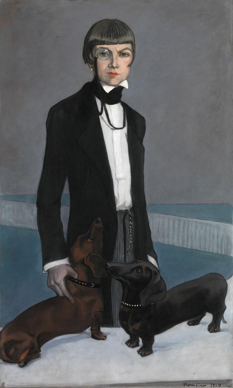 "Romaine Brooks, ""Una, Lady Troubridge"" (1924), oil on canvas, Smithsonian American Art Museum, gift of the artist"