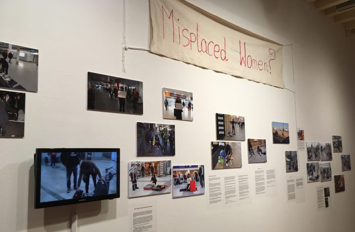 Installation view, Tanja Ostojić, Misplaced Women? (All photos by author for Hyperallergic.)