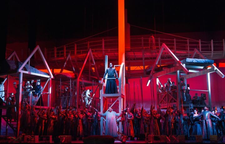 A scene from Rossini's Guillaume Tell (photo by Marty Sohl, courtesy the Metropolitan Opera)