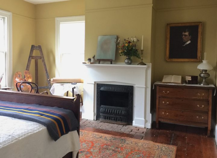 Edward Hopper's bedroom in his Nyack home (photo by Carole Perry)