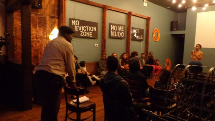 The performance series 'Testourmonials of a GentrifiNation' at the new Starr Bar (photo by Erika Sequeira)