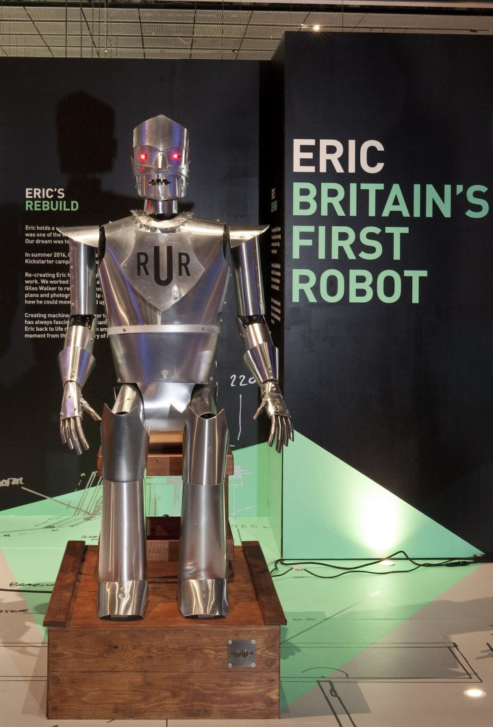 Replica of Eric the robot on view at the Science Museum in London (courtesy Science Museum)