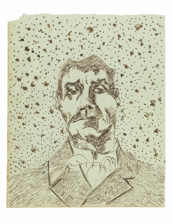 """Joseph Ginoux II"" (early December, 1888), one of 65 drawings attributed to Vincent van Gogh and published in the forthcoming title, Vincent van Gogh: The Lost Arles Sketchbook"