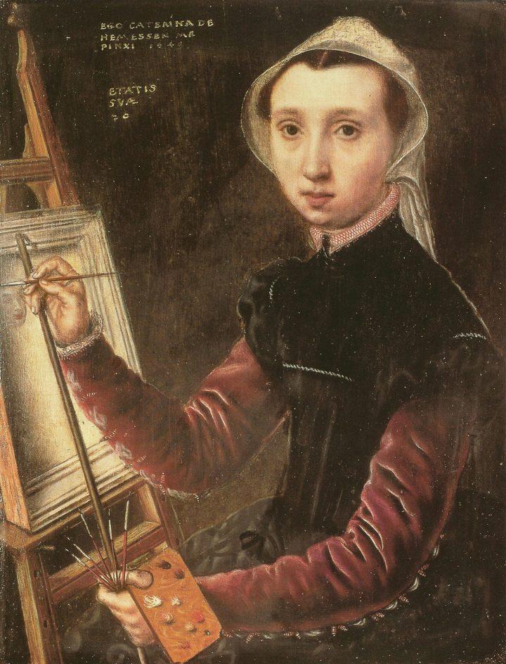 "Catharina van Hemessen, ""Self-portrait"" (1548)"
