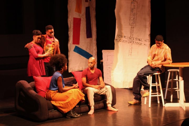 """A still image from the performance of """"My Brother's a Keeper"""" November 12 at the Bronx Academy of Arts and Dance."""