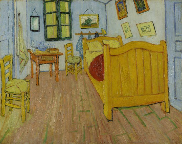 """Vincent van Gogh, """"Bedroom in Arles"""" (1888) (image via Wikipedia)"""