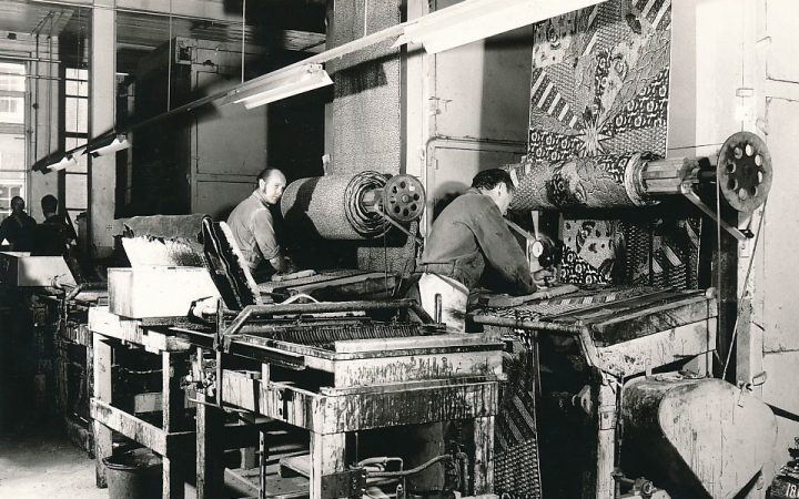 The Vlisco factory in the 1950s–60s (image courtesy Vlisco)