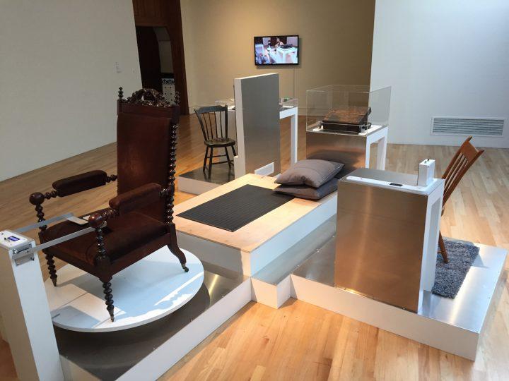 Installation view of 'Fernando Orellana: His Study of Life' (courtesy PAFA)