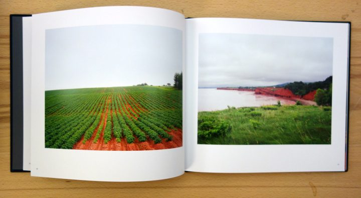 Pages from Evangeline: A Tale of Modern Acadia (photo of the book for Hyperallergic)