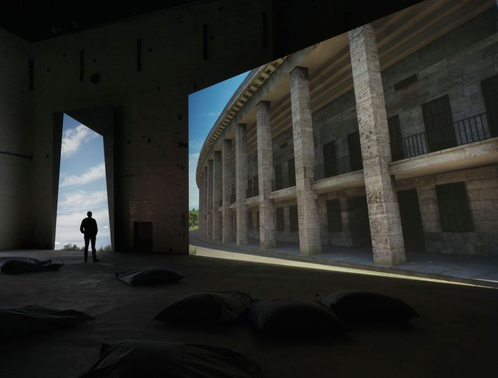 """David Claerbout, """"Olympia"""" (2016), real-time projection at KINDL's Kesselhaus (Boiler House)"""