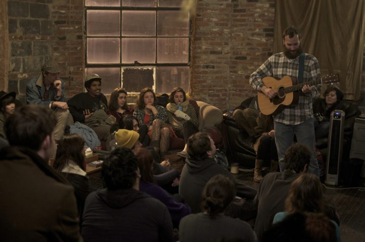 A concert at the Bell Foundry in Baltimore in 2012 (photo by James Blucher/Flickr)